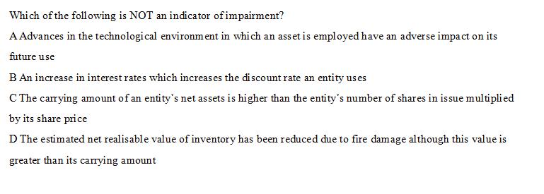 ACCA(FR)科目经典例题练习