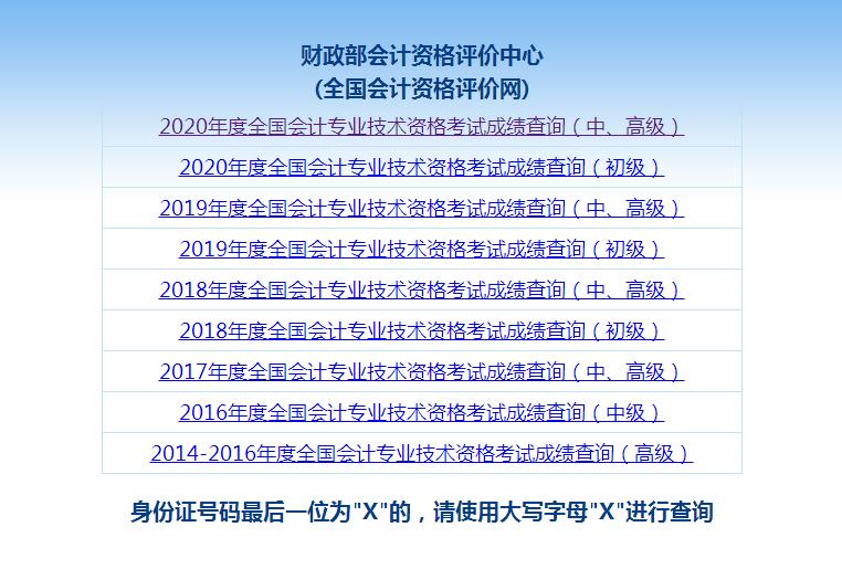 2021年初级会计成绩查询入口开通!