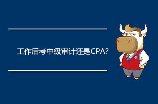 工作后考中级审计还是CPA?
