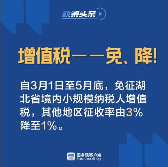 小規模增值稅征收率降至1%